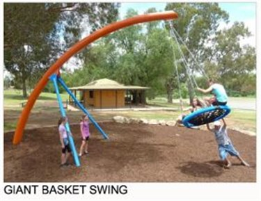 Giant basket swing
