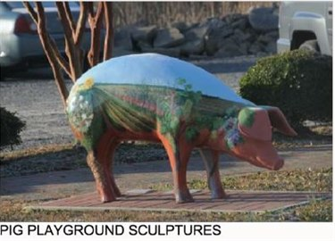 Pig playground sculptures