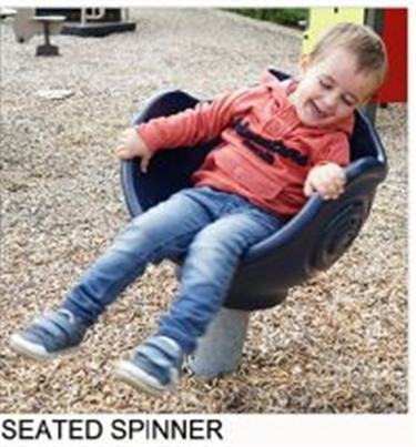 Seated spinner