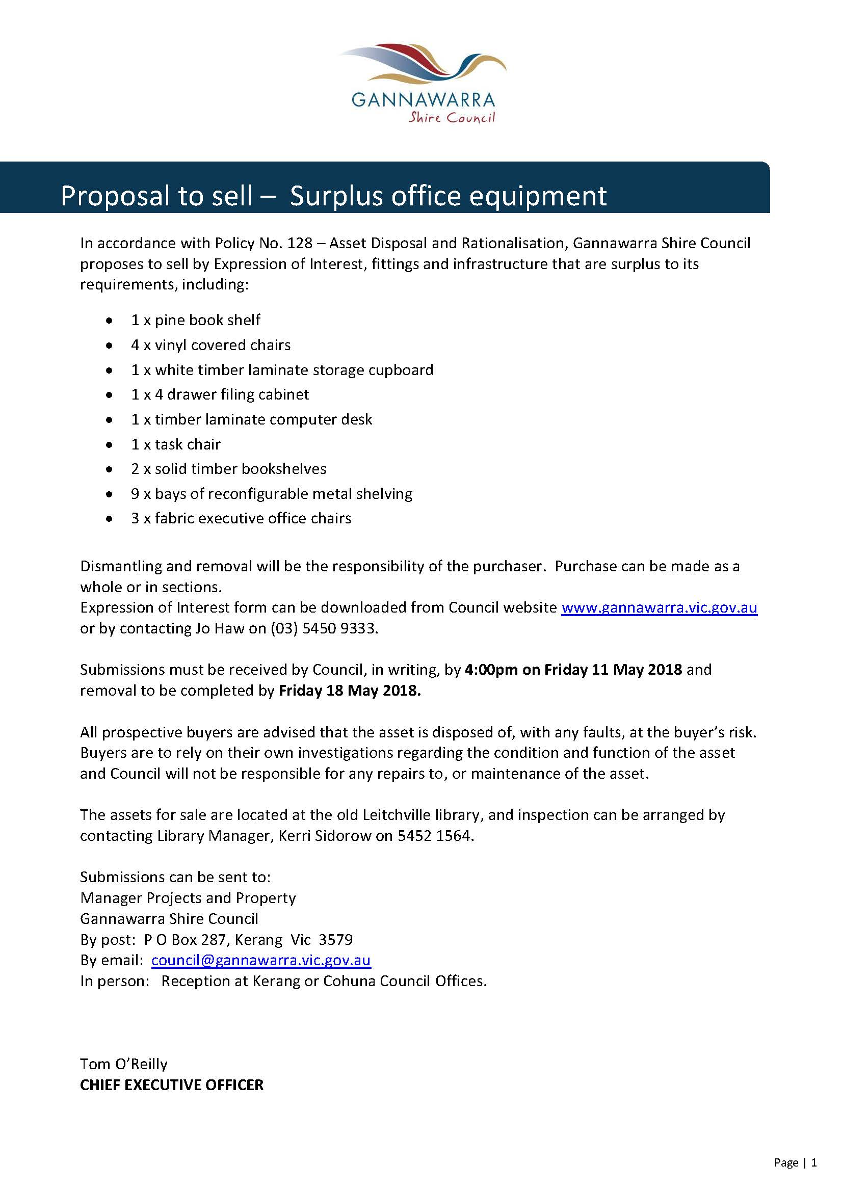 Surplus Council furniture and fittings sale_EOI advertisement_April2018.jpg