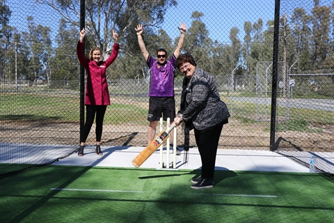Cohuna Recreation Reserve cricket nets opening 2.JPG