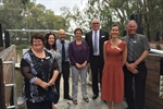 Minister Pulford with Mayor and Councillors at Koondrook Wharf.JPG